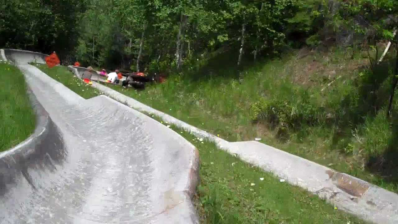 joes bad alpine slide luge crash epic fail youtube