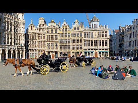 BRUSSELS, capital of Belgium & Europe   City tour in 4K ultra HD