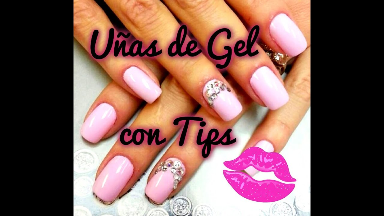 UÑAS DE GEL CON TIPS! Decorado Diamantes - PinkDiamond ...