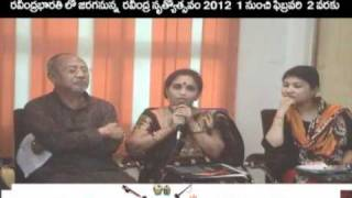 Raga Ragini President Smt. Ramana Kumari garu at Rabindra Nrityotsav 2012  Press Meet