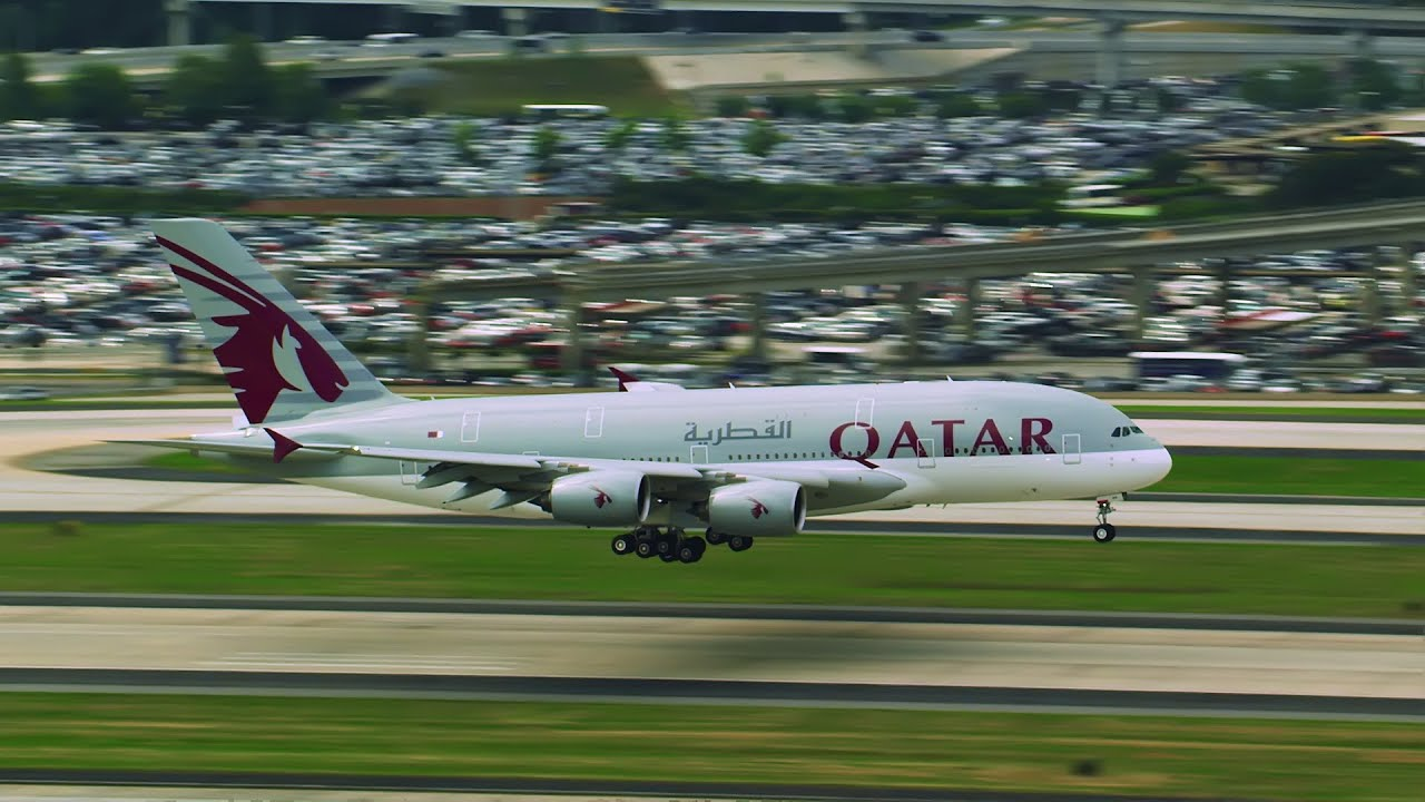 Resultado de imagem para Qatar Airways Airbus A380 Inaugural Flight to Atlanta Qatar Airways