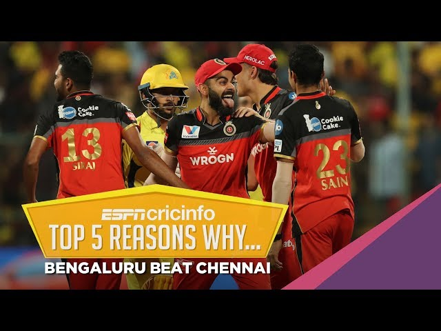 Five reasons why Royal Challengers Bangalore beat Chennai Super Kings
