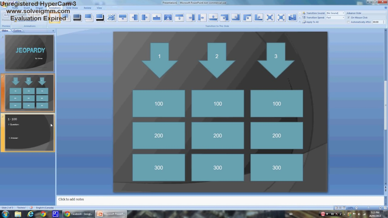 Power point how to create an easy jeopardy game youtube toneelgroepblik Image collections