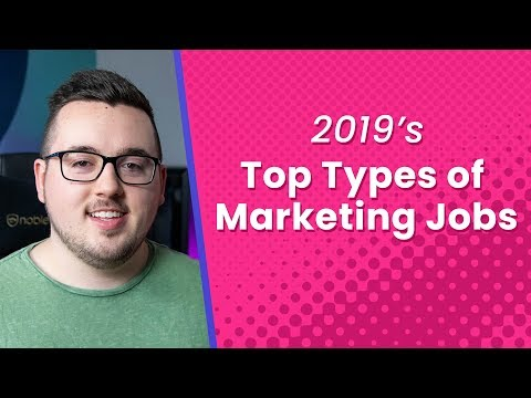 2019's Top Types Of Marketing Jobs
