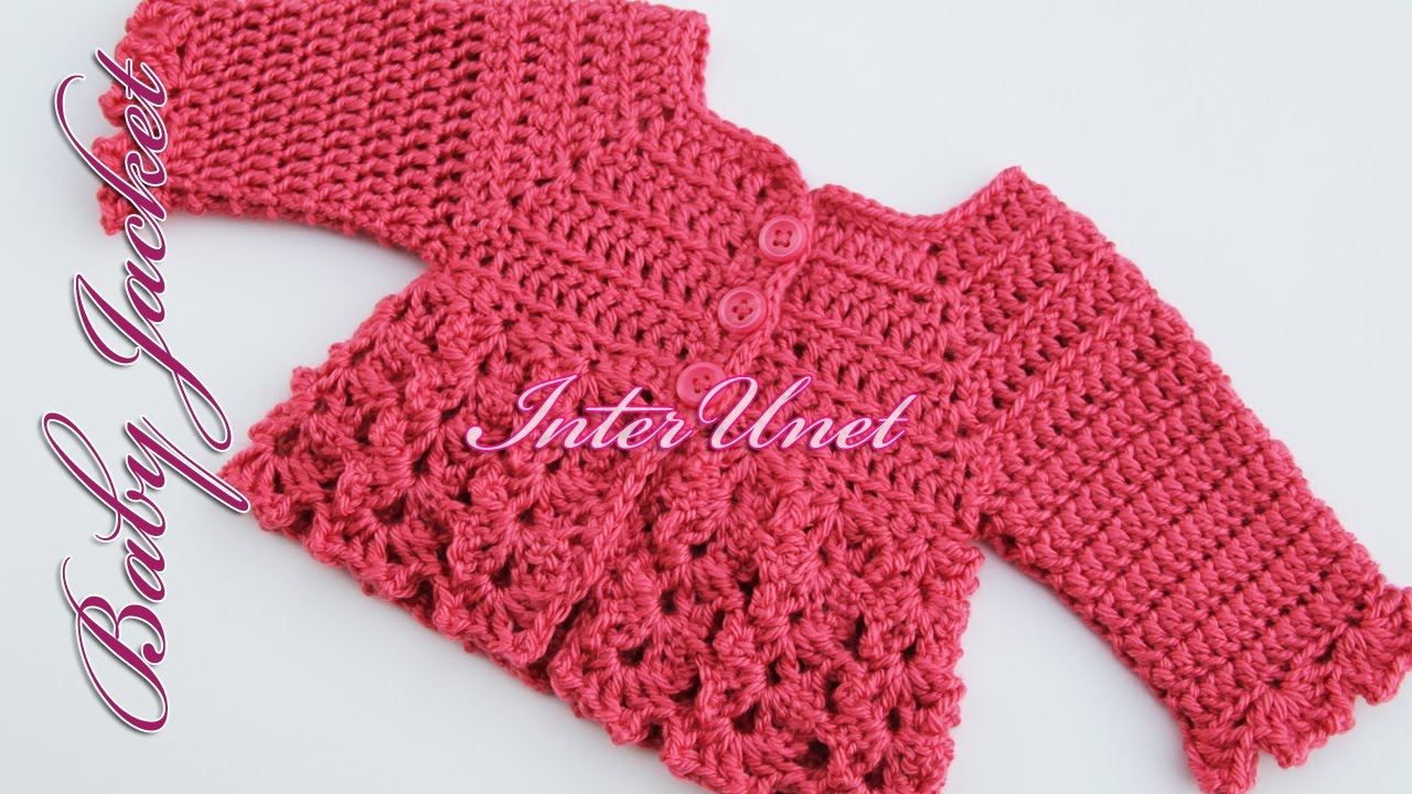 Baby cardigan jacket crochet pattern youtube bankloansurffo Image collections