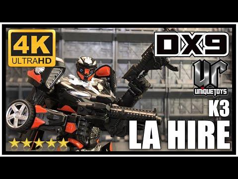 DX9 X UNIQUE TOYS K3 LA HIRE Transformers The Last Knight Masterpiece Hot Rod