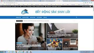 Hướng Dẫn Tạo Trang Chủ Website bằng theme Newspaper
