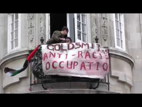 Goldsmiths Anti-Racist Action Occupied Deptford Town Hall Building, London, UK