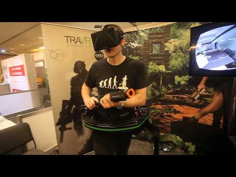 CES 2014: Virtuix Omni -  Omnidirectional treadmill video game peripheral for virtual reality games