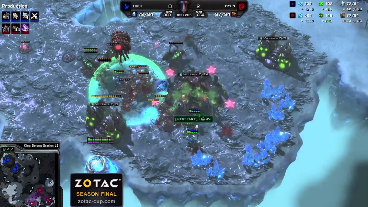 Hyun vs. First - Game 3 - ZOTAC Season Finals - StarCraft 2