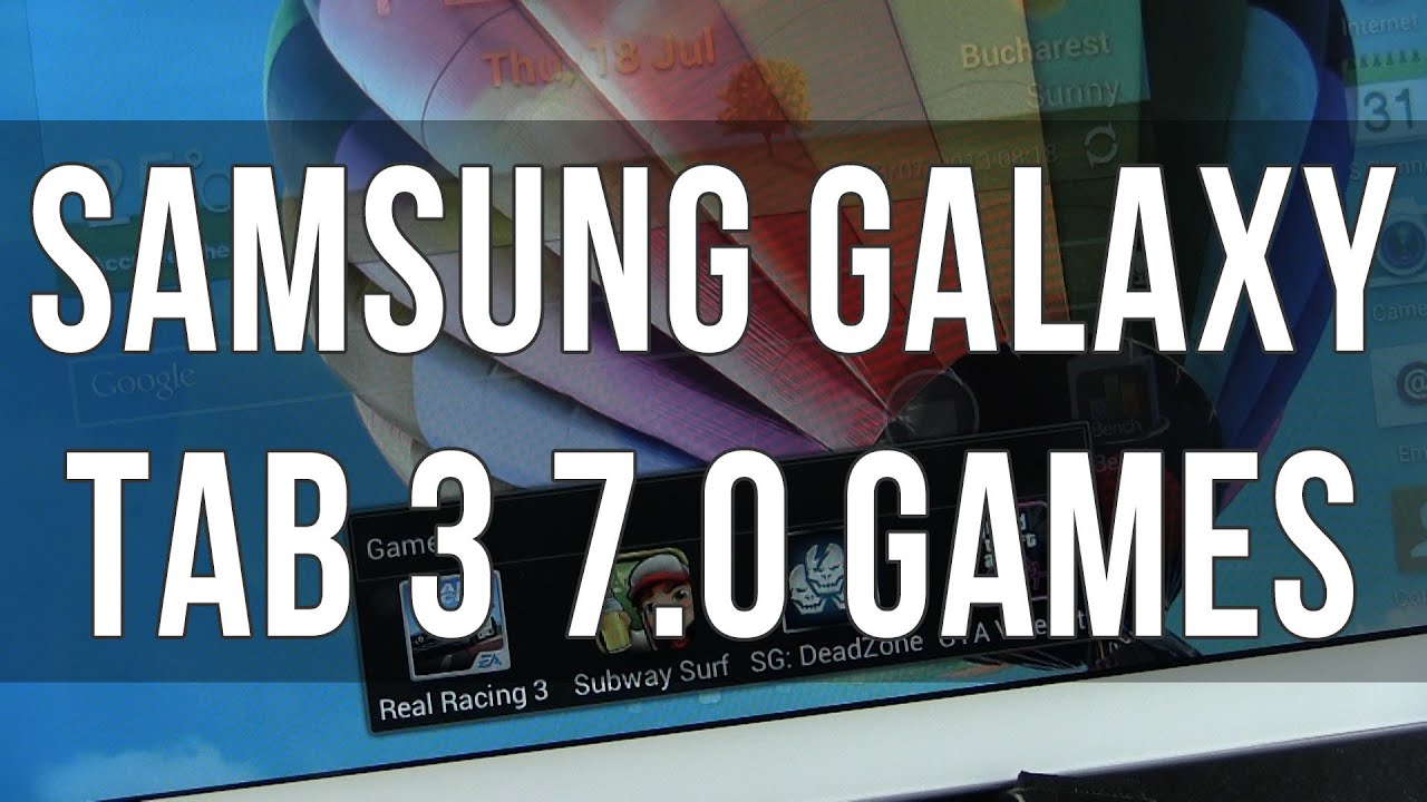 Samsung Galaxy Tab 3 7 0 Games Gaming Performance Youtube