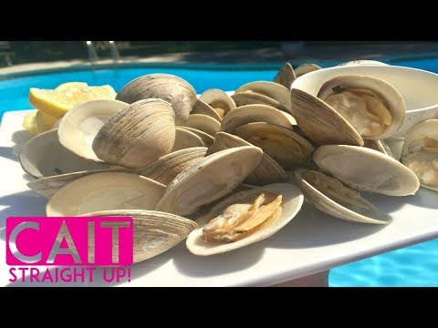 How To Cook Clams On The Grill | Cait Straight Up