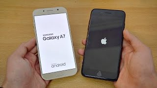 Samsung Galaxy A7 (2017) vs iPhone 7 Plus - Speed Test! (4K)