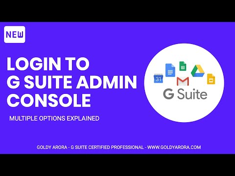 how to login to G Suite admin console - 3 possible ways
