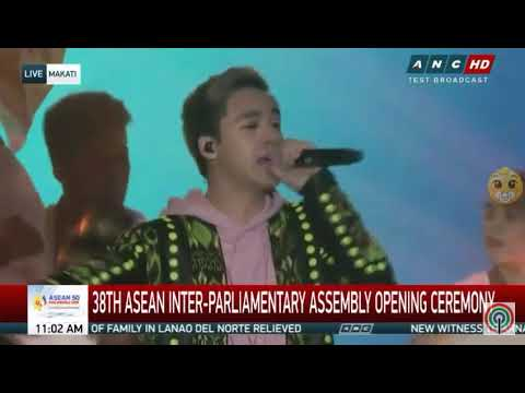James Reid on 38th Asean Inter-Parliamentary Assembly Opening Ceremony....