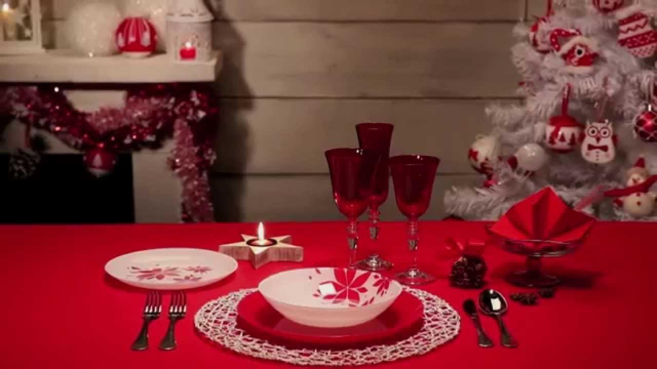 Come apparecchiare la tavola di Natale rosso  YouTube
