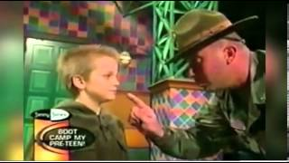 Boy melts Drill Sergeant