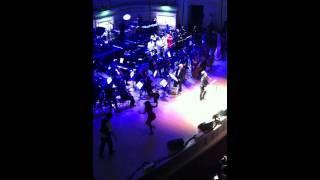 "Bruno Mars singing "" Jail House Rock"" with Channing Tatum, Jenna Dewan Tatum"