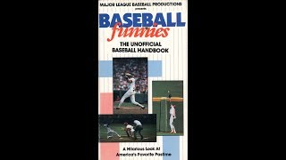 Baseball Funnies The Unofficial Baseball Handbook (1988)