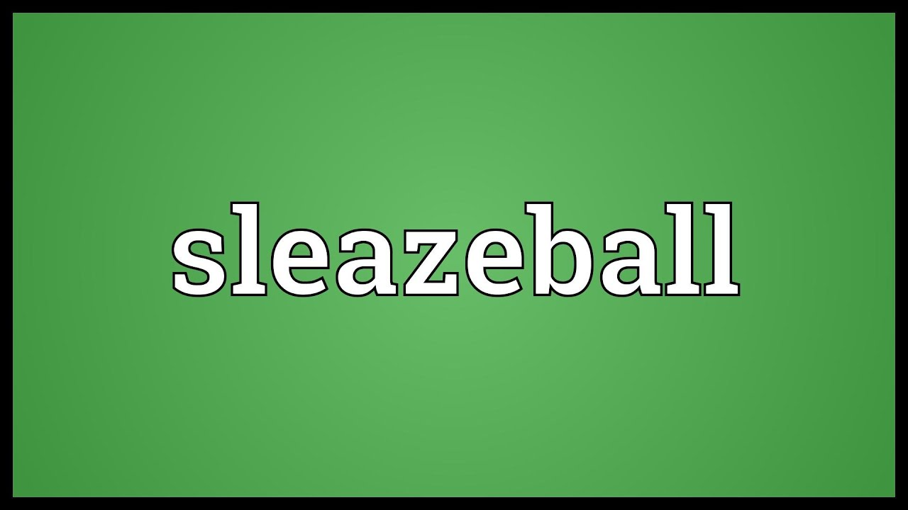 Sleazeball Meaning image
