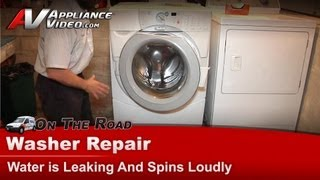 Whirlpool , KitchenAid & Kenmore Washer is leaking and has a loud spin - GHW9400PW4