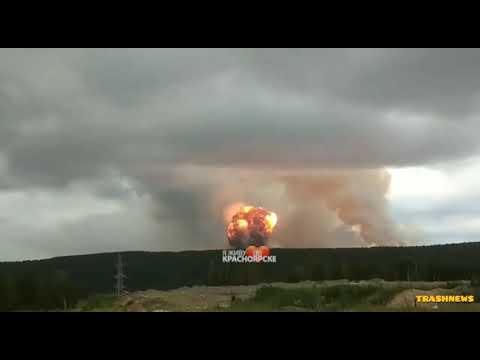 Момент взрыва в Ачинске, Красноярский край