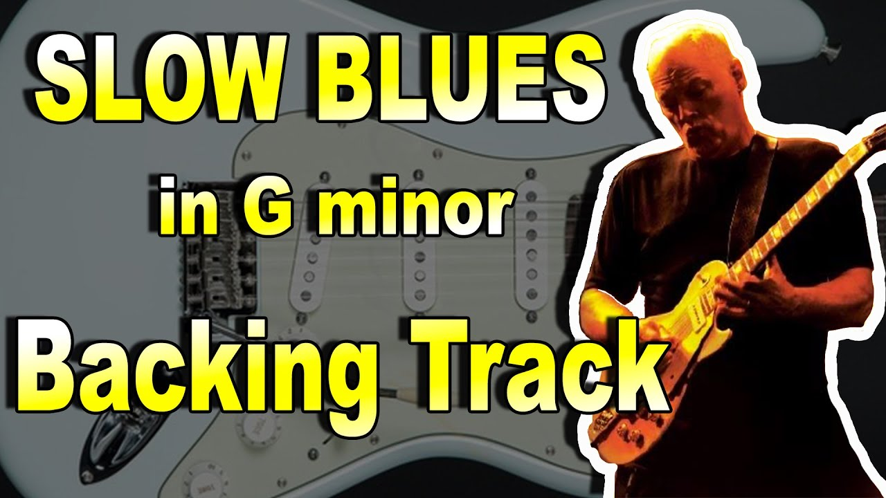 Trouble Slow Blues in G minor Backing Track for Guitar