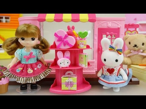 Thumbnail: Baby Doll and Rabbit Fancy stationary shop toys play