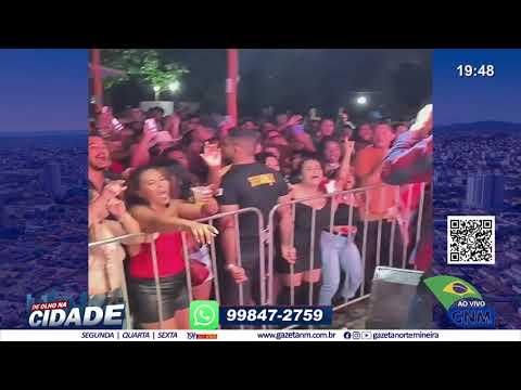 Guarda Municipal de Moc encerra show com aglomeração e desrespeito as regras de prevenção à Covid