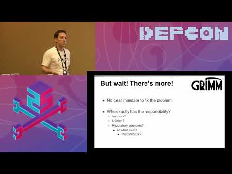 DEF CON 25 ICS Village - Bryson Bort, Atlas - Grid Insecurity and How to Really Fix This Shit