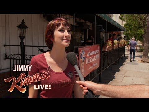 Jimmy Kimmel Live vs. Pedestrian Question World Cup Edition vs. Are You Drunk?