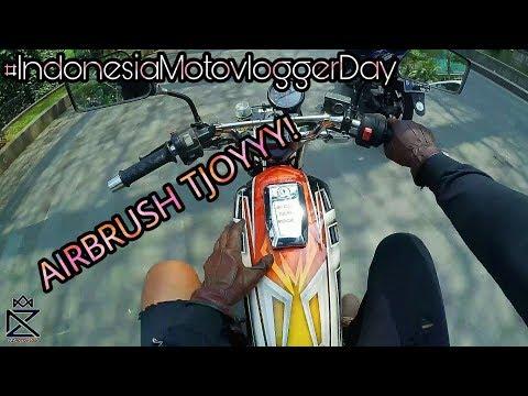 Indonesia Motovlogger Day 2017 | Yamaha RX King 2004 Airbrush! #11