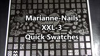 Marianne Nails Xxl-3 Nail Stamping Plate