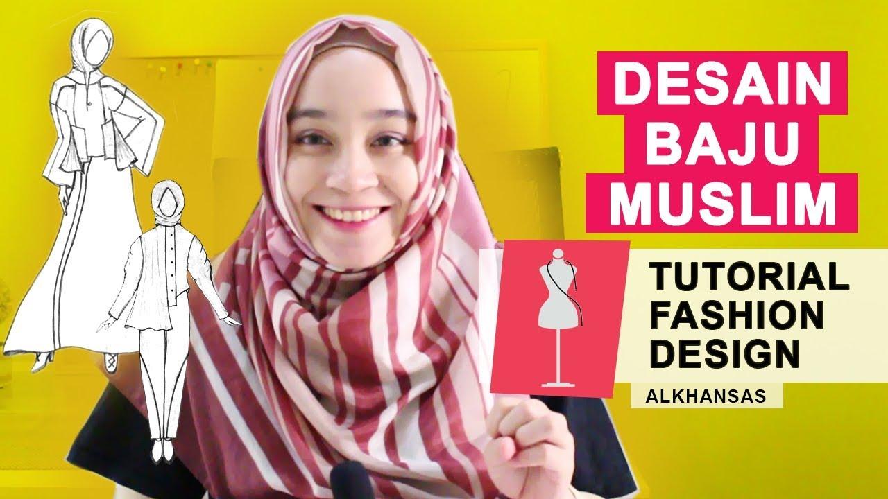 Desain Busana Muslimah Gambar Sketsa Baju