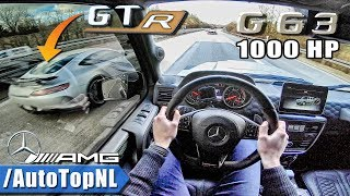 Download 1000HP Mercedes G63 AMG vs AMG GTR   AUTOBAHN POV by AutoTopNL Mp3 and Videos