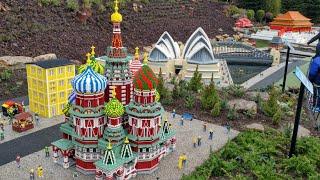 Miniland Explore the World New at Legoland Windsor 2018, Russia, China, India, Australia in Lego