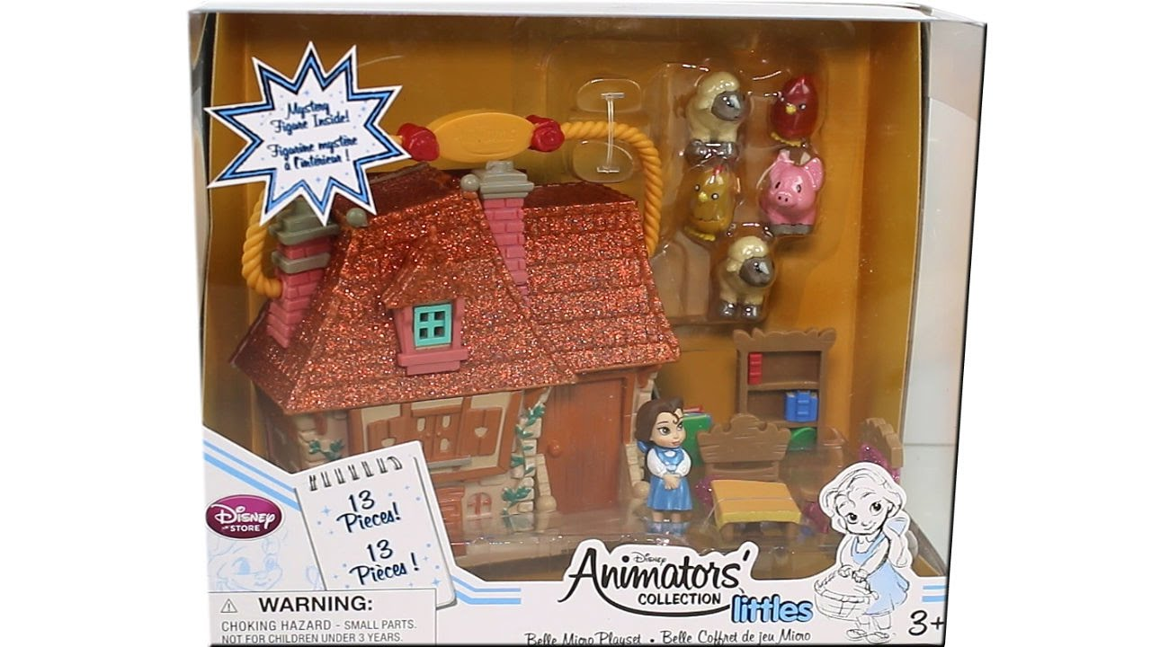Disney Animators/' Collection Littles NEW Disney BELLE Micro Playset Doll House