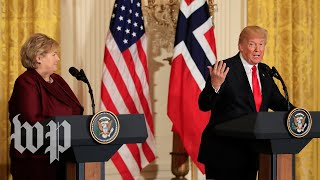 Trump says U.S. delivered F-52 and F-35 fighter jets to Norway