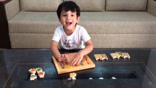 "Moksh With ""count & Match The Objects Puzzle""_little Genius Toys. Math Activity_part 2"