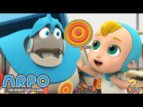 arpo-the-robot-|-the-great-baby-candy-chase!-|-new-video-|-funny-cartoons-for-kids-|-arpo-and-daniel