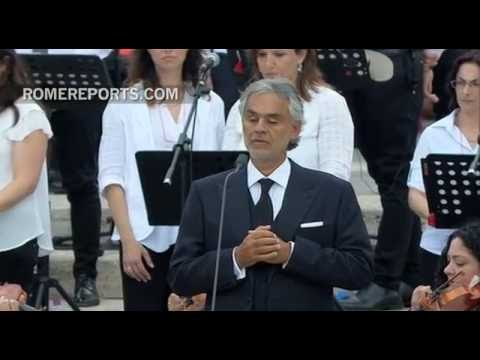 Andrea Bocelli sings 'Panis Angelicus' in St. Peter's Square