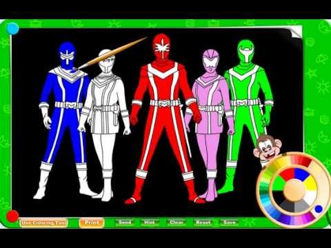 Free Power Ranger Coloring Pages For Kids - YouTube