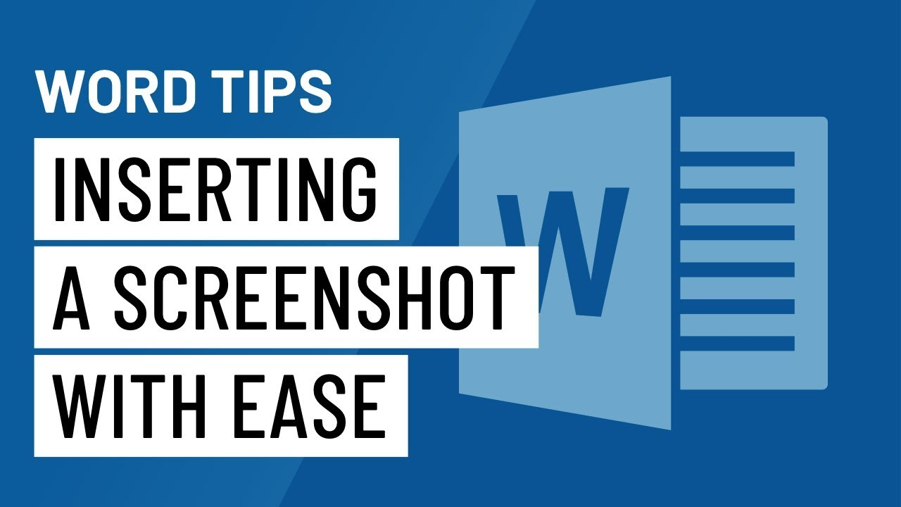 Word Quick Tip: Inserting a Screenshot with Ease