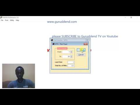 HOW TO START PRINTING RECHARGE CARDS IN NIGERIA [TRAINING VIDEO] Gurusblend TV