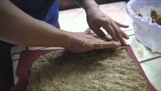 Pan de cebolla crudivegetariano