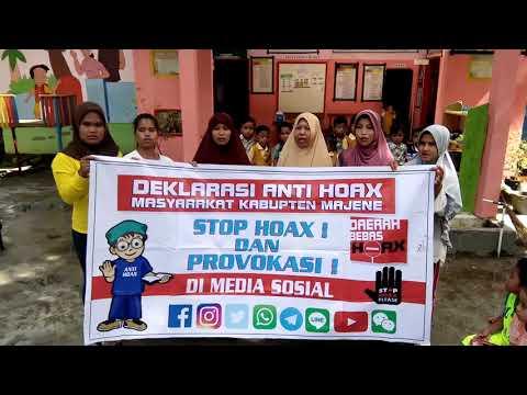 Polres Majene~Deklarasi anti Hoax TK PGRI Darul Ilmi Pettabeang Kec  Malunda
