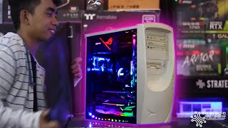 surprising little brother with new gaming pc