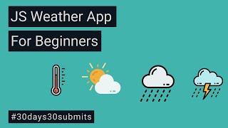 Create A Weather Forecast App Using Vanilla JavaScript For Beginners screenshot 2
