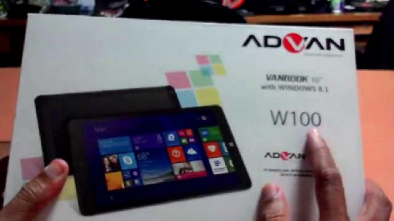 Unboxing ADVAN VANBOOK W100 Indonesia