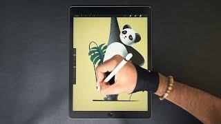 Panda 🐼 Digital Art on iPad Pro